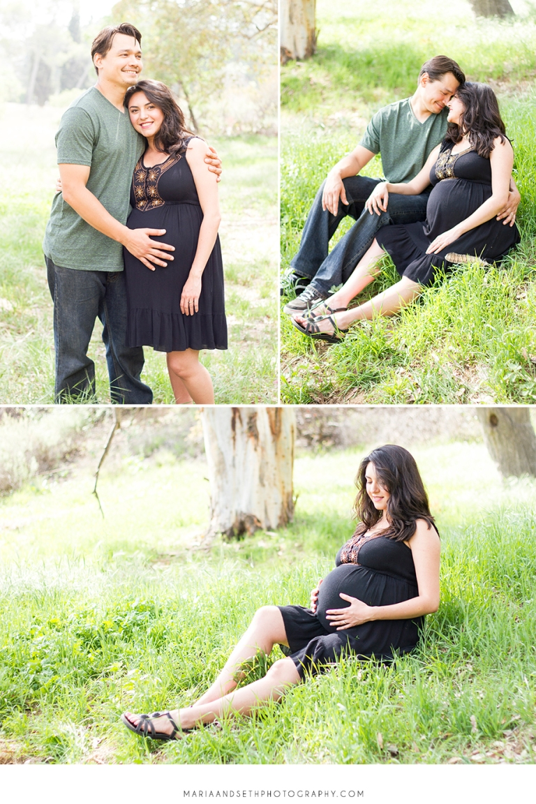 Outdoor maternity photography by Maria and Seth Photography | www.mariaandsethphotography.com